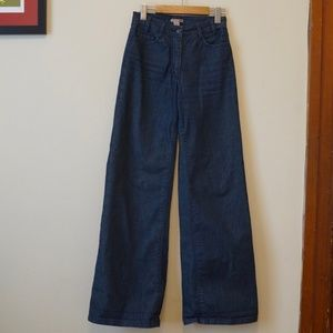 H&M high-waisted wide leg jeans